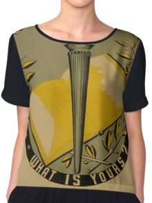 Vintage poster - Adult Education Chiffon Top