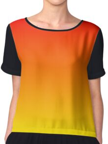 Red To Yellow Gradient Chiffon Top