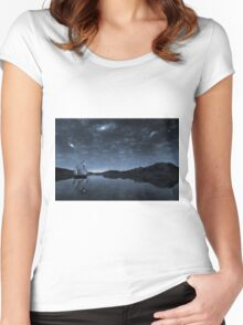 Beneath a jewelled sky Women's Fitted Scoop T-Shirt
