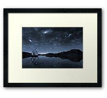 Beneath a jewelled sky Framed Print