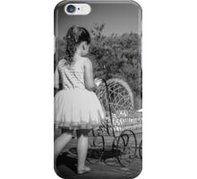 little girl with a pram iPhone Case/Skin