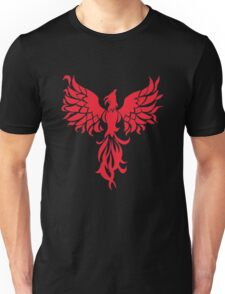 Abstract Red Phoenix Unisex T-Shirt