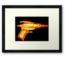 ray gun Framed Print