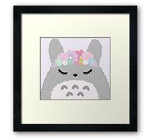 Totoro Cutie Framed Print