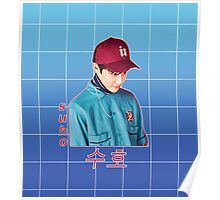 suho in blue Poster