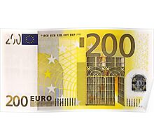 Two Hundred Euro Bill Poster