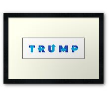 Trump Hillary Mashup Framed Print