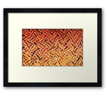 Sunset over the mountains by Gaye G Framed Print