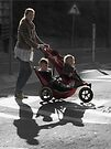 Modern mother and children by awefaul