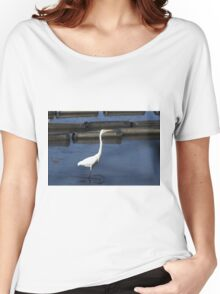 Great Egret,Urunga NSW Women's Relaxed Fit T-Shirt