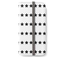 Type Black Stars iPhone Wallet/Case/Skin