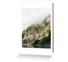 Foggy Mountain Greeting Card