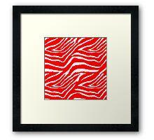 Zebra Red and White 2 Framed Print