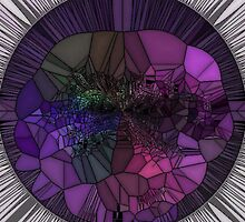 Purple Mosaic Circle by HeckaDoodleDo
