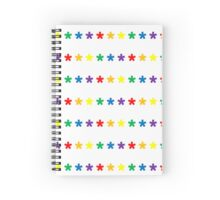 Rainbow Type Stars Spiral Notebook
