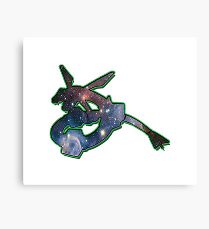 Rayquaza Space Design T-shirt and other products Canvas Print