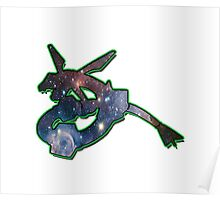 Rayquaza Space Design T-shirt and other products Poster