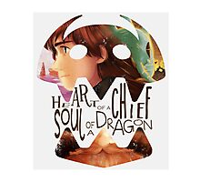 heart of a chief soul of a dragon  Photographic Print