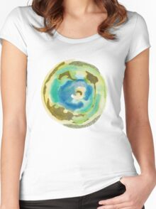 Not Quite Earth Abstract Map Women's Fitted Scoop T-Shirt