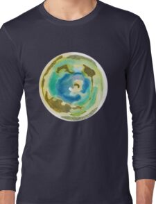 Not Quite Earth Abstract Map Long Sleeve T-Shirt