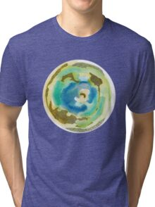 Not Quite Earth Abstract Map Tri-blend T-Shirt