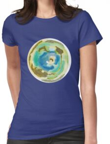 Not Quite Earth Abstract Map Womens Fitted T-Shirt