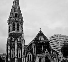 Cathedral Square, Christchurch, New Zealand by Norman Repacholi