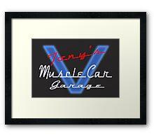 Tony's Muscle Car Garage Framed Print