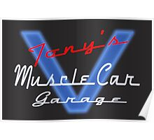 Tony's Muscle Car Garage Poster