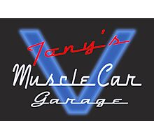 Tony's Muscle Car Garage Photographic Print