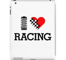 I Love RACING (1) iPad Case/Skin