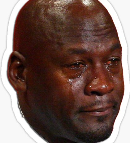 Michael Jordan crying Sticker