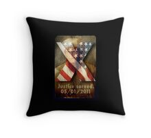 Justice Served. Throw Pillow