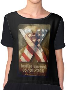 Justice Served. Chiffon Top