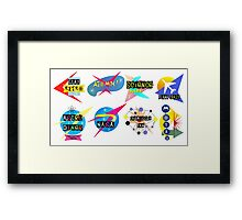 Space Age Signs Framed Print