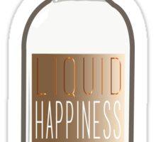 Liquid Happiness in a Bottle Vodka Bottle - Gradient Sticker