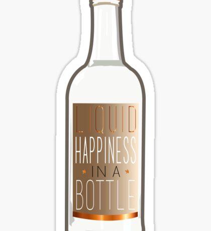 Liquid Happiness in a Bottle Vodka Bottle - Gradient Sticker