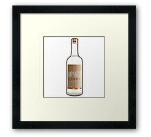 Liquid Happiness in a Bottle Vodka Bottle - Gradient Framed Print