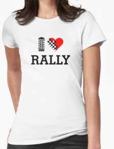 I Love RALLY (1) Womens Fitted T-Shirt