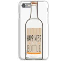Liquid Happiness in a Bottle Vodka Bottle - Flat iPhone Case/Skin