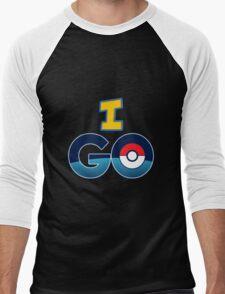 I Go For Pokemon Go Graphic Men's Baseball ¾ T-Shirt