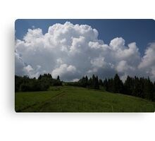 A Little Road to the Clouds Canvas Print