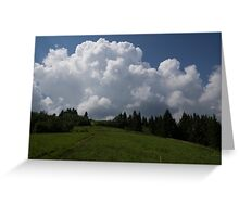 A Little Road to the Clouds Greeting Card