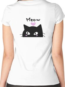 Cat miaw Women's Fitted Scoop T-Shirt