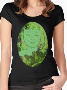 Green Sea Girl Women's Fitted Scoop T-Shirt