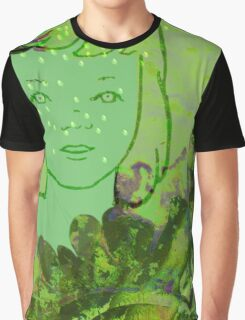 Green Sea Girl Graphic T-Shirt