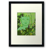 Green Sea Girl Framed Print