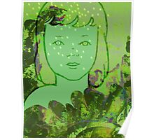 Green Sea Girl Poster