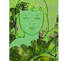 Green Sea Girl Photographic Print