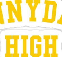 sunnydale high school sweatshirt Sticker